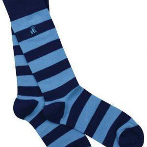sky blue striped bamboo socks v1