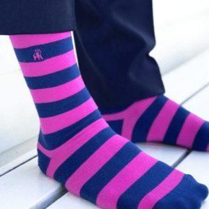 socks rich pink striped bamboo socks 3 600x 1